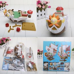 Wholesale One Piece Sunny Action Figure - 35cm 14 inch One Piece Thousand Sunny Pirate ship Model PVC Action Figure Toy Retail