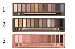 Wholesale Nude Naked - Newest Makeup Eyeshadow nude palette 12 color Eyeshadow Palette naked eye shadow pallet Palette NO 1 2 3 5 Eye Shadow Free Shipping