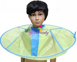 Wholesale Hair Cutting Capes Children - 60cm Children Hair Cutting Cape Salon Barber Styling Hairdressing Wrap Cartoon tools Colorful Cape free shipping