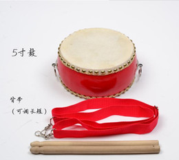 Wholesale Music Instrument Percussion - New Chinese Drum Kids Toy Gift Early Education Music Percussion Instrument