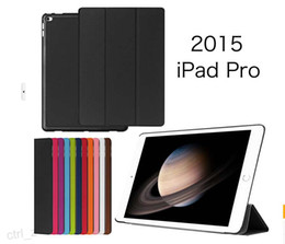Wholesale Ipad Book Stand Case - Fashion Business 3 folded Flip book Leather stand holder case smart cover for iPad Pro 12.9 inch