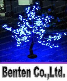 Wholesale Cherry Light Tree Green - Beautiful LED Cherry Blossom Christmas Tree Lighting P65 Waterproof Garden Landscape Decoration Lamp For Wedding Party Christmas Supplies LL