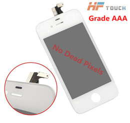 Wholesale Iphone 4s Cdma Lcd - 20 PCS Wholesale-Grade A best Quality For iPhone 4 4G 4S CDMA GSM LCD Display Screen Digtizer Full Assembly No Dead Pixel Spot black white