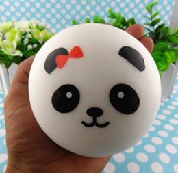 Wholesale Jumbo Panda Squishy Free Shipping - Wholesale-Free shipping Panda expression Jumbo Squishy Buns18pcs-10cm Kawaii slow rising Squishies mix order wholsale
