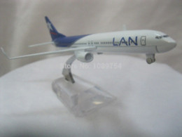 Wholesale Toy 737 - solid 16CM Lan 737-800 BLUE EAGLE, metal alloy model aircraft free shipping Diecasts & Toy Vehicles