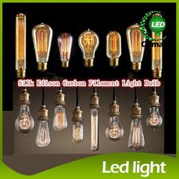 Lâmpadas antigas antigas vintage on-line-Moda incandescente Vintage Bulb Bulb Edison luminária E27 Lâmpadas 110V / 220V 40W Bulbo Luzes Antique Lâmpadas Edison Antique Lâmpadas