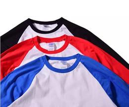 Argentina Venta caliente del verano del otoño Hombres O-cuello 100% algodón camiseta de los hombres camiseta de manga casual raglán Jersey camisa hombre cheap cotton jersey t shirts Suministro