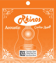 Wholesale Guitars Strings - Rhinos Acoustic Guitar String 80 20 Bronze Wound RD535SL .011-.052 Super Light