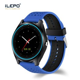 Wholesale Wifi Smart Watches - V9 smart watches with Record Sleep State Built-in SIM Card Slot Camera WIFI BLUETOOTH smartwatch for android ios men