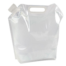 Wholesale Survival Water Bags - Outdoor Water Bag Portable Folding Clear Water Bag Camping Survival Kit Supply 5LCollapsible Transparent Folding Water Bag