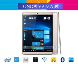 Wholesale Onda 2gb Ram - Wholesale-Onda V919 AIR Dual OS Windows 10+Android 4.4 Tablet PC 9.7'' 2048x1536 Intel BayTrail-T Z3735F 64bit Quad Core 2GB RAM 64GB ROM
