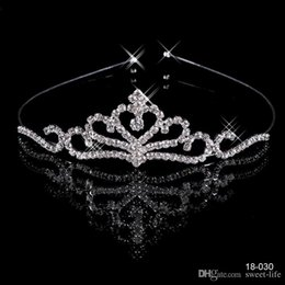 Wholesale Rhinestone Crystal Tiaras - 18030 Crowns Popular Beautiful Hair Accessories Comb Crystals Rhinestone Bridal Wedding Party Tiara 4.13 inch*1.18 inch Free Shipping 18030