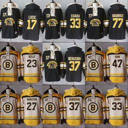 Men Hoodies 77 Ray Bourque 17 Milan Lucic 33 Zdeno Chara 37 PatriceBergeron Boston  Bruins Hoodies Jerseys Sweatshirts 786b8094c