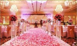 foglie di fiori di nozze Sconti Il trasporto libero 1000pcs / lot di seta dei petali del fiore della rosa lascia le decorazioni della tabella di cerimonia nuziale Il colore della raccolta all'ingrosso Ci sono 52 colori totali