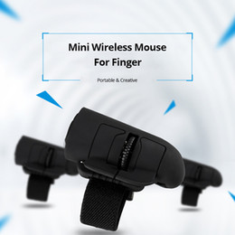 Wholesale G Finger Rings - 2.4 G wireless mouse creative wireless finger lazy mouse computer mobile phone flat ring mini bluetooth mouse