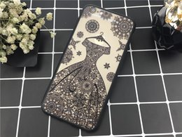 Wholesale One Piece Phone Cover - Phone Lace Flower Shell Double One Piece+TPU Color Painting Protection Cover for Iphone 5 5s Iphone6 6s 4.7  Iphone6 6s 5.5 7 4.7 7 5.5