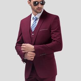 Terno de ordem on-line-Homens Ternos Do Noivo Do Casamento Plus Size 5XL 3 Peças (Jacket + Colete + Calça) Slim Fit Casual made to order