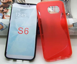 Wholesale Galaxy Note S2 Cases - For Samsung Galaxy S6 Edge S Line TPU Soft Gel Rubber Phone Case For Samsung G9200 S5 Note 3 4 S2 S3 S4