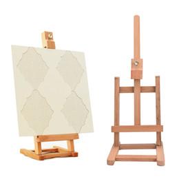 Cavalete de madeira on-line-Cavalete de Esboço Para Pintura Dobrável Pintura Exibição de Cavalete De Madeira Esboço De Madeira Moldura Para O Artista cavalete para pintura