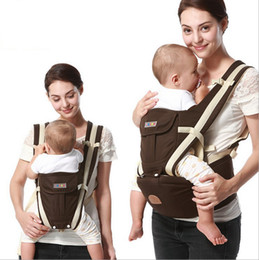 Wholesale Backpack Carry Baby - 2017 Child Ergonomic backpack Baby Carrier Multifunction Breathable Infant Carrier Backpacks Carriage Toddler Sling Wrap Suspenders + Seat