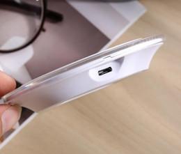Note receptor sem fio da almofada do carregador on-line-Universal Qi Sem Fio Carregador Mais Novo Adaptador de Carregamento Receptor Pad Para Samsung Nota Galaxy S6 s7 Borda almofada móvel com pacote