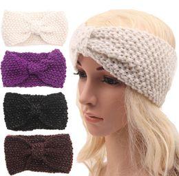 Womens Ladies Winter Autumn Warm Crochet Beanies Headbands Head Wrap Turban Bandanas  Hats hair accessories headwear 18 color D700M fcaab7f2974b