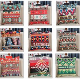 Wholesale Wholesale Native American - .Retro Vintage Printed Pillow Case Covers Hand Crafted Native American Decorative Pillow Case XMAS Sofa Car Bed Cushion Decor XL-375