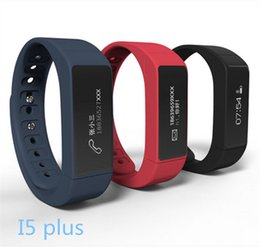 Wholesale I5 Gps - I5 Plus Smart Bracelet Bluetooth 4.0 Waterproof Touch Screen Fitness Tracker Health Wristband Sleep Monitor Smart Watch