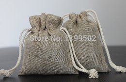 Wholesale Earing Boxes - CBRL 8*12cm drawstring jute linen flax jewelry bags for gift\earing\bracelet \necklace\watch pouch\bag custom-made wholesale