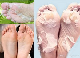 Wholesale Wholesale Exfoliating Foot Mask - 2pairs=4pcs Free shiping Milk bamboo vinegar remove dead skin foot mask skin smooth exfoliating feet mask foot care A3