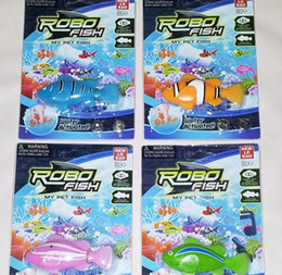 Wholesale 12 Swim - Free Shipping Magical Turbot Fish Robo Fish Kids Toy Electronic Sharks Swimming Robotic Fish Battery Powered Pet Robofish Christmas Gifts