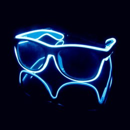 Wholesale Led Glowing Eyes - Personalized Voice Control Light Goggles LED Glowing Eye Glasses Christmas Halloween Party Celebration Supplies L508