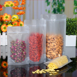 Wholesale Clear Plastic Storage - 3.5''x5.1'' (9x13cm) Zip Lock Frosted Surface Clear Plastic Packaging Stand Up Pouch for Food Snack Storage Ziplock Doyp