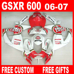 r1 carenados Rebajas Para el kit de carenado Suzuki GSXR600 GSXR750 06 07 GSXR 600 750 2006 2007 Lucky Strike Fairings kits