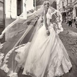 Wholesale Drop Waist Wedding Dress Mermaid - Glamorous Mermaid Wedding Dresses 2016 Dropped Waist Luxury Lace Designer Sweetheart Princess Bridal Gowns Sweep Train A Line