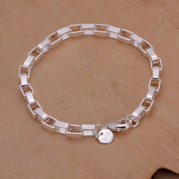 Wholesale Long Sterling Chain - Hot sale best gift 925 silver Big long box hand DFMCH203,Brand new fashion 925 sterling silver Chain link bracelets high grade