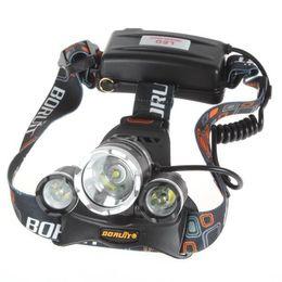 Wholesale Bike Light Flashlight - NEW 5000 lumen 3x CREE XM-L 3T6 LED bike light Headlight flashlight head for hunting camping XML T6 LED Headlamp