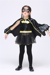Wholesale Batman Cartoon Suits - 2015Hot Halloween Kid's Clothing Batman Girls New Dress The Game Clothing Costume Party New Clothing Micky Mouse Suits
