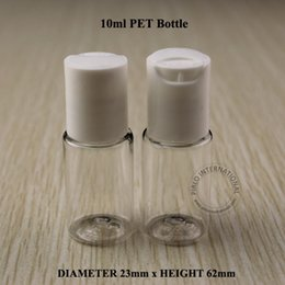 Wholesale Shampoo Bottle Lids - 10ML White Press Cap Bottle Clear Plastic Lotion Sub-bottling Empty Cosmetic Shampoo Container With Screw Lid 30PCS LOT