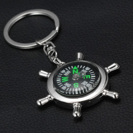 Wholesale Nautical Items - 2015 Alloy Nautical helm compass keychain Fashion Key Chains Charms Keychains novelty key rings small items best selling items
