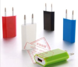 Wholesale Ic Power Iphone - IC Protection EU US PLUG 5V Full 1A Color Flat Wall Charger AC Power Adapter For Home Battery Cellphone Iphone 7 4S 5S 6S Galaxy S6 S7