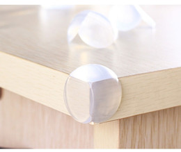 Wholesale round shelves - Wholesale 500pcs Round Corner Protectors Corner Cushions For Glass Tables Or Shelves With 3M Sticker Baby Safe High quality