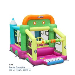 Wholesale Castle Jumpers - 2017 new Car toy Bounce house inflatable trampoline jumping bouncy castle bouncer jumper with climbing indood playground for kid