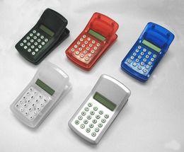 Wholesale Fast Random - Fast DHL Free shipping 100pcs FLCD Screen Display Mini Portable Pocket Clip Calculator for Student Mixed Random Colors