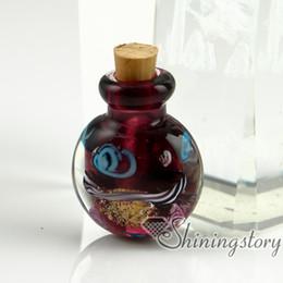 Urne in miniatura online-bottiglie di vetro in miniatura urna gioielli ciondoli per cremazione di cenere di cenere