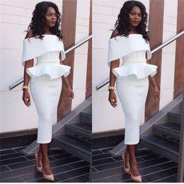 Wholesale White Midi Dress Long Sleeves - Off Shoulder Ruffle Long Dress 2017 Summer Sexy Bodycon Midi Party Dress Black Pink Slash Neck Bandage Dresses NN-035