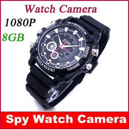 Wholesale Secret Spy - Full HD 1080P 8GB Waterproof Spy Watch Camera Secret Mini Cam Recorder Video Camcorders Free shipping