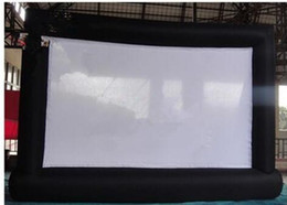 Wholesale Outdoor Advertising Screens - High Quality Advertising Giant Outdoor Cinema Inflatable Screen with blower