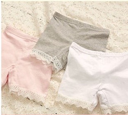 Wholesale Cute Pink Panties - New 2015 Girls Underwear Summer Girl Clothes Lace Cotton Kids panties underwear Fashion Cute Lace underwear for children A099