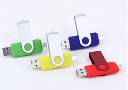 Wholesale Colour Flash - USB OTG 256GB 128GB 64GB USB Flash Drive OTG Pen For Smart Phones tablet computer random colour external storage micro usb memory stick